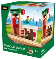 Brio  houten trein gebouw Monorail treinstation 33303-2
