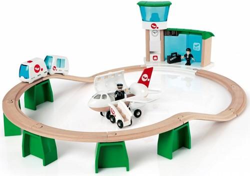 Brio  houten trein set Monorail vliegveldset 33301-1