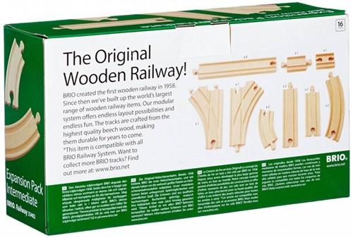 Brio  houten trein accessoire Rail uitbreidingsset 33402-2