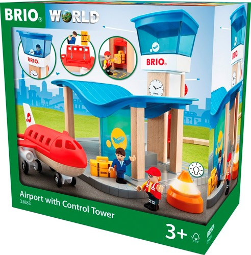 BRIO trein Vliegveld met controletoren  33883