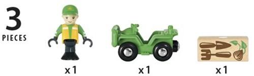 Brio  houten trein accessoire ATV Vehicle with load 33798