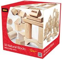 Brio  houten bouwblokken 50 blank 30113-2