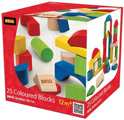 Brio  houten bouwblokken Gekleurde 25 stuks 30114-2