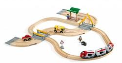 Brio  houten trein set Rail & road travel set 33209