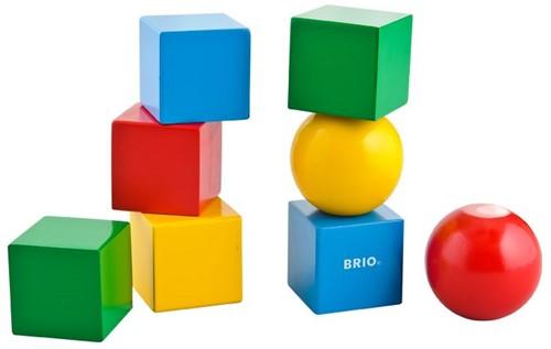 Brio  houten bouwblokken Magnetische stapelblokken 30123-1