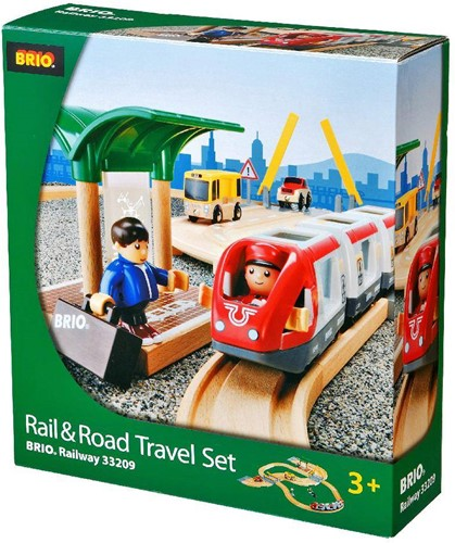 Brio  houten trein set Rail & road travel set 33209-3