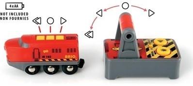 Brio  houten trein RC trein met afstandsbesturing 33213-2