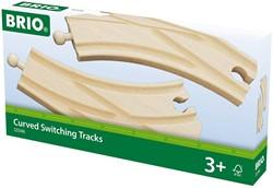 Brio  houten treinrails Wissels 33346