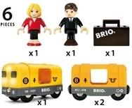 Brio  houten trein set Metro trein 33507-2