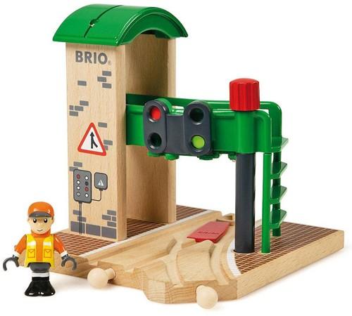 Brio  houten trein gebouw Seinstation 33674-1