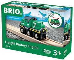 Brio  houten trein Goederen locomotief batterij 33214