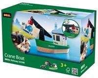 Brio  houten trein accessoire Boot met kraan 33598-2