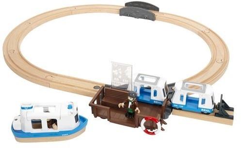 Brio  houten trein set Travel ferry set 33725-1