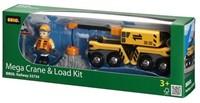 Brio  houten treinwagon Mega kraan en laad wagon 33734-2