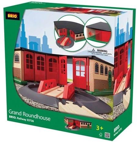 Brio  houten trein gebouw Grand roundhouse 33736-2