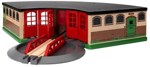 Brio  houten trein gebouw Grand roundhouse 33736-1