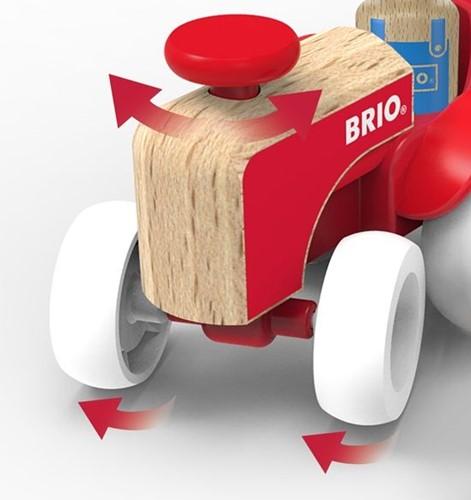 BRIO speelgoed Tractorset met paard in aanhanger-2