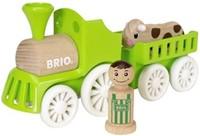 BRIO speelgoed Treinset met koe in wagon-1