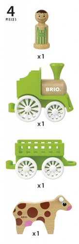BRIO speelgoedtrein met koe in wagon-3