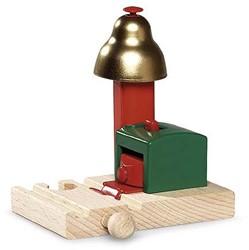 Brio  houten trein accessoire Magnetisch belsignaal 33754