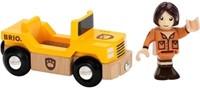 Brio  houten trein accessoire Safari jeep met chauffeur 33723-1