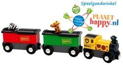 BRIO trein Trein met safari dieren 33722