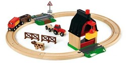 Brio  houten trein set Treinbaan boerderij 33719