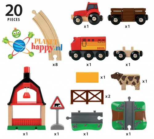 Brio  houten trein set Treinbaan boerderij 33719-2