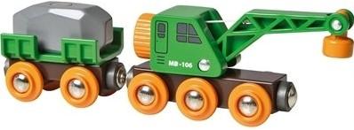 Brio  houten treinwagon Kraanwagon 33698-1