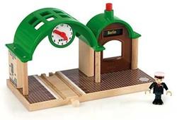Brio  houten trein accessoire Station met geluid 33580