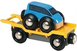Brio  houten trein accessoire Autotransporter met oprijplaat 33577