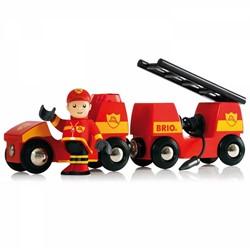 Brio  houten trein accessoire Brandweer auto 33576