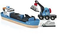 Brio  houten trein accessoire Containerschip 33534-1