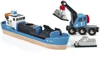 BRIO Containerschip met kraanwagen - 33534