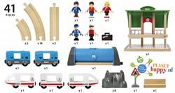 Brio  houten trein set Metro city railway set 33514