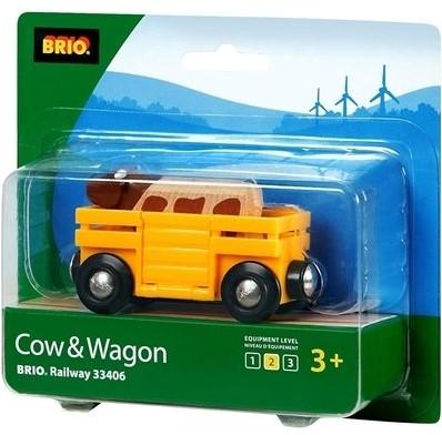 Brio  houten treinwagon Veewagon 33406-2