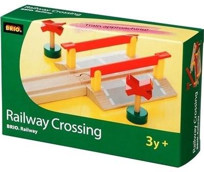 Brio  houten trein rails Overweg met signalen 33388-2