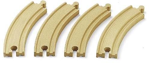 Brio  houten treinrails 4 bochten 33342-1