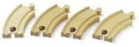 Brio  houten treinrails 4 kleine bochten 33337-1
