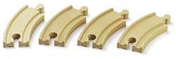 Brio  houten treinrails 4 kleine bochten 33337