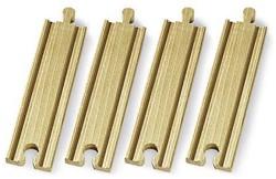 Brio  houten treinrails Rechte rails middellang 33335