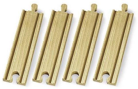 Brio  houten treinrails Rechte rails middellang 33335-1