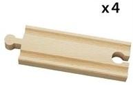 Brio  houten treinrails Halve rechte rails 33334