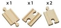 Brio  houten treinrails Korte rechte rails 33333-2