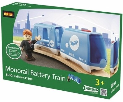 Brio  houten trein Monorail trein op batterij 33308-1
