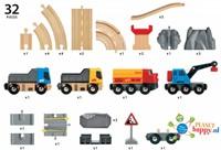 Brio  houten trein set Rail & Road Loading set 33210-3