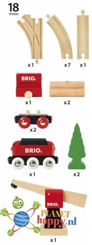 Brio  houten trein set Klassieke vrachttrein set 33010-3