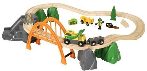 Brio  houten trein set Lumber Loading Set 33789-1