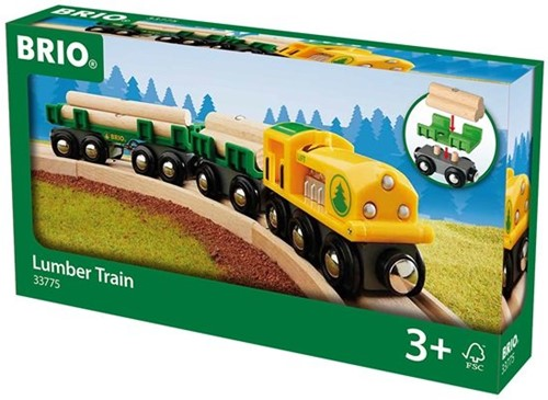 BRIO trein Hout-transporttrein 33775