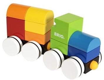 Brio  houten bouwblokken Magnetic train 30245-1